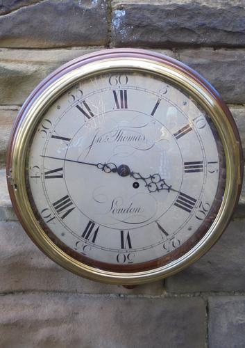 Antique Mahogany Dial Clock by Thomas London (1 of 8)