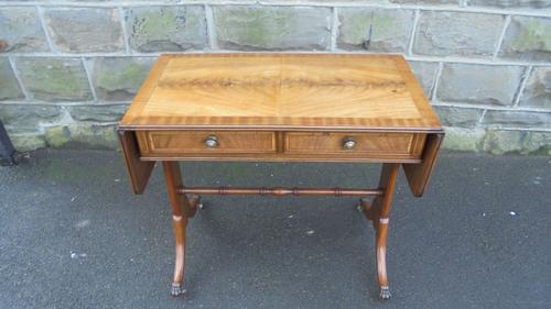 Antique Inlaid Mahogany Small Sofa Table (1 of 10)