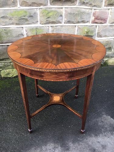 Quality Edwardian Inlaid Mahogany Table (1 of 7)