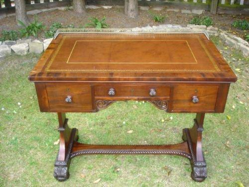 Antique Mahogany Library Table Desk in the Manner of Gillows (1 of 5)