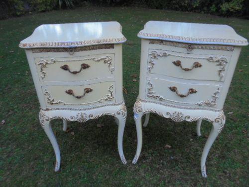 Pair of White Painted Louis XVI Style