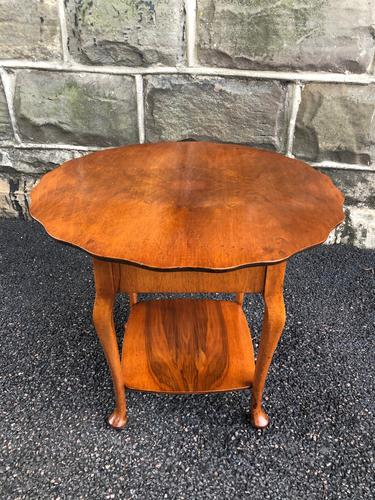 Antique Walnut Ladies Sewing Table (1 of 6)