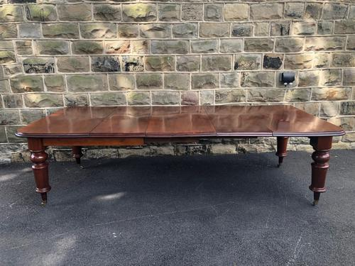 Antique Mahogany 3 Leaf Extending Dining Table (1 of 13)