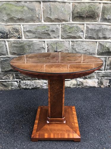Art Deco Satin Walnut Table (1 of 10)