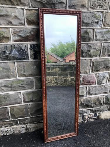 Antique Oak Tailors Outfitters Mirror (1 of 5)