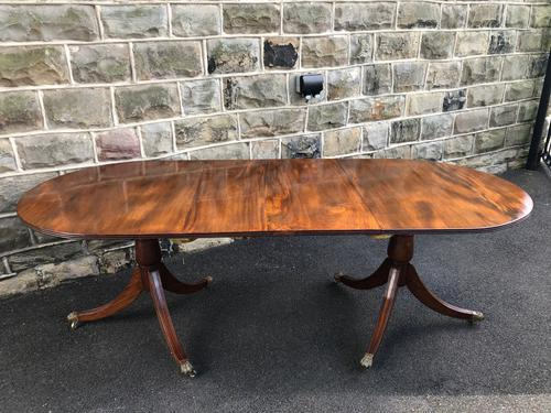 Antique Mahogany Twin Pillar Extending Dining Table (1 of 10)