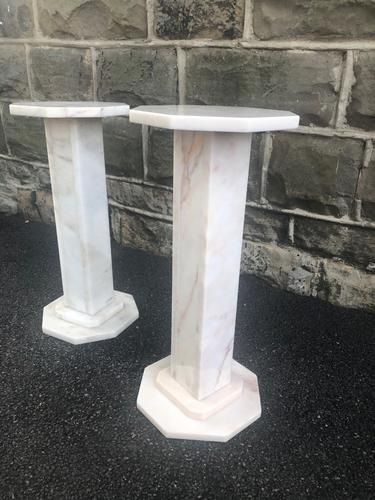 Pair of Marble Column Stands (1 of 7)