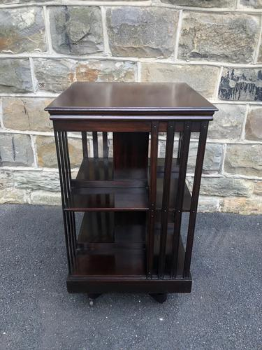 Antique Mahogany Revolving Bookcase (1 of 8)