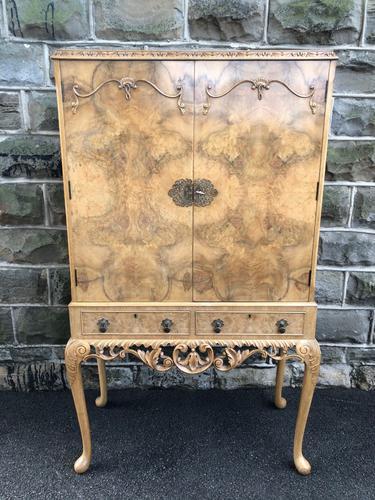 Antique Burr Walnut Cocktail Cabinet by Epstein (1 of 9)
