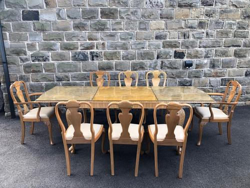 Burr Walnut Dining Table & 8 Chairs by Epstein (1 of 12)