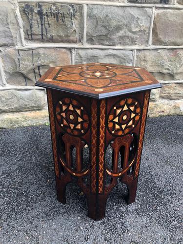 Decorative Antique Inlaid Table c.1890 (1 of 8)