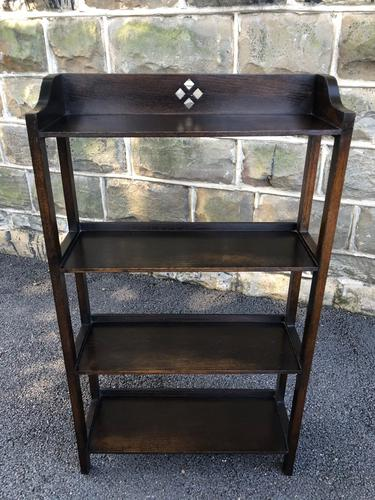 Antique Oak Open Bookcase (1 of 7)