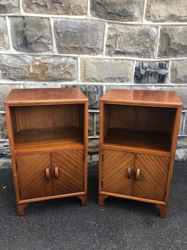 Pair of Mahogany Bedside Cabinets c.1910 (1 of 8)
