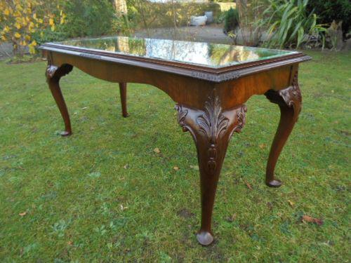 Walnut & Burr Walnut Coffee Table c.1920 (1 of 1)