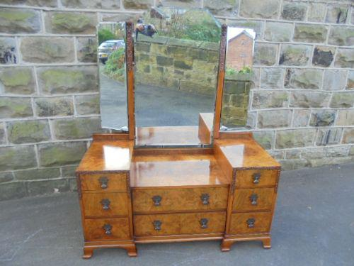 Burr Walnut Dressing Table / Vanity Stand c.1920 (1 of 1)