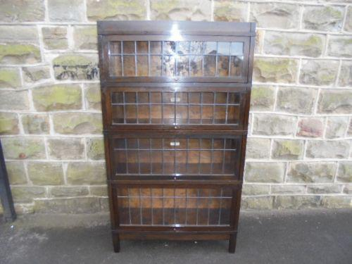 Antique Oak Globe Wernicke Library Stacking Bookcase c.1900 (1 of 1)