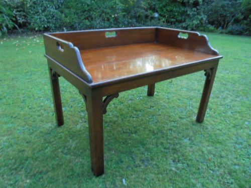 Antique Mahogany Tray Top Coffee Table c.1900 (1 of 1)