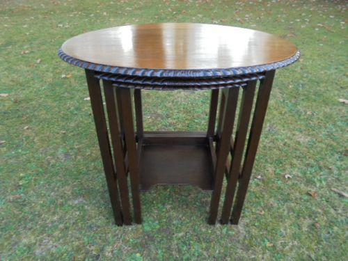 Antique Mahogany Nest of 3 Tables c.1910 (1 of 1)