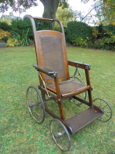 Antique Child's Push Chair Invalid Chair (1 of 1)