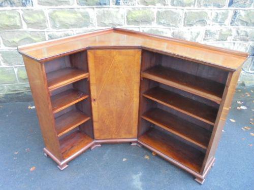 Edwardian Inlaid Mahogany Corner Bookcase c.1910 (1 of 1)