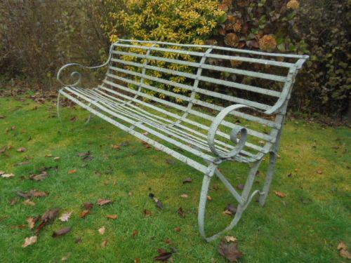Antique Wrought Iron Garden Bench c.1850 (1 of 1)