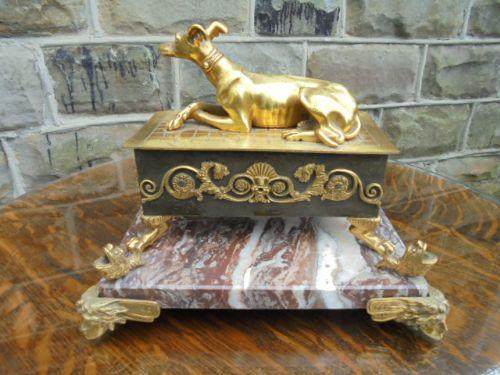 Antique Bronze & Marble Desk Stand Inkwell (1 of 10)