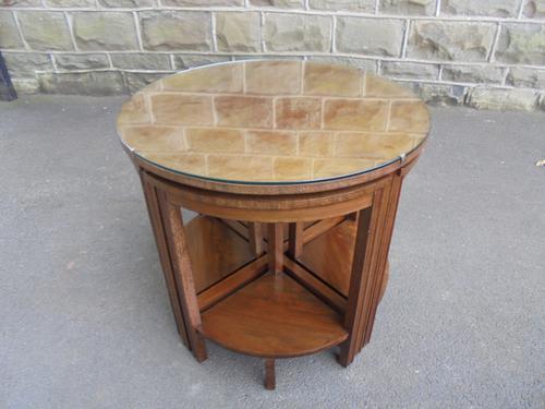 Edwardian Nest of 5 Mahogany Tables (1 of 13)