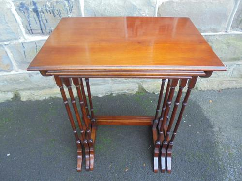 Antique Mahogany Nest 3 Tables c.1910 (1 of 1)