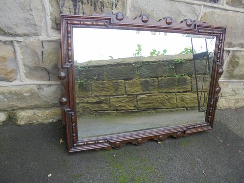 Antique Oak Wall Mirror c.1910 (1 of 1)