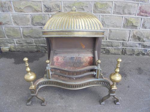 Fine Antique Cast Iron & Brass Fire Basket (1 of 1)