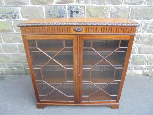 Antique Mahogany Glazed 2 Door Bookcase c.1900 (1 of 1)
