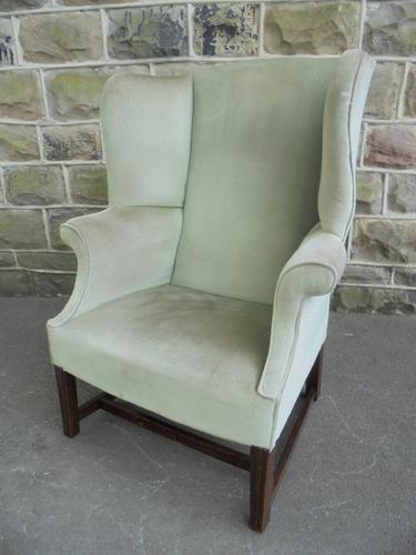 Antique English Upholstered Wing Armchair c.1900 (1 of 1)