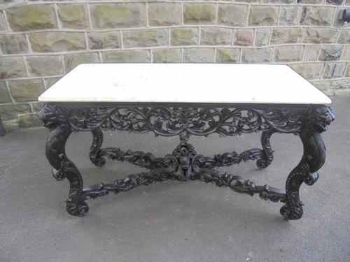 Antique Anglo Indian Padouk & Marble Console Table (1 of 1)