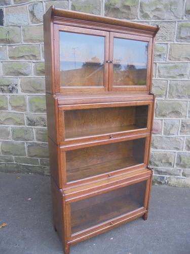 Antique English Oak Stacking Solicitors Bookcase by Gunn (1 of 9)