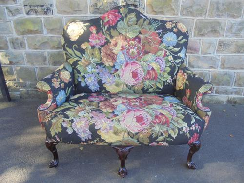 Antique English Country House Upholstered Sofa (1 of 1)