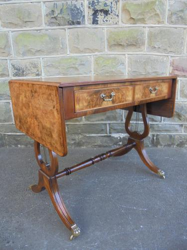 Burr Walnut Sofa Table c.1920 (1 of 1)