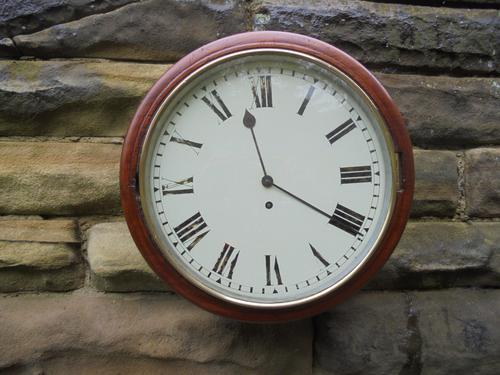 Antique Mahogany Cased Fusee Dial Clock (1 of 1)