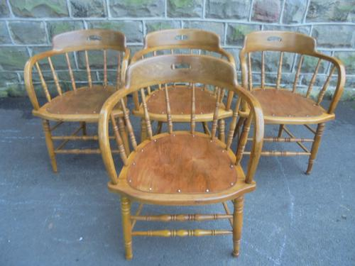 Antique Set of 4 Captains Style Armchairs (1 of 1)