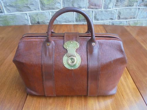 Quality Leather Bookmakers Bag c.1920 (1 of 1)
