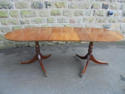 Mahogany Twin Pillar Extending Dining Table 8 Seats c.1920 (1 of 1)