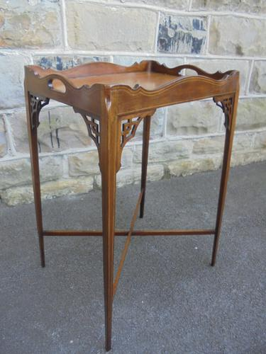 Antique Inlaid Mahogany Table (1 of 1)