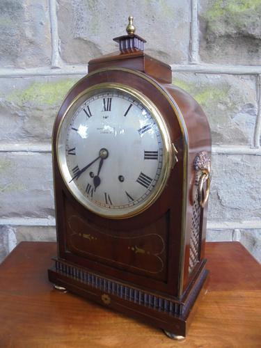 Antique Mahogany & Brass Bracket Clock Mappin & Webb (1 of 1)