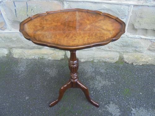 Burr Walnut Tripod Wine Table c.1920 (1 of 1)
