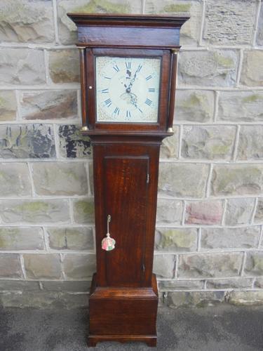 Georgian Oak Cottage Longcase Clock Ebenezer Abraham Olney (1 of 1)