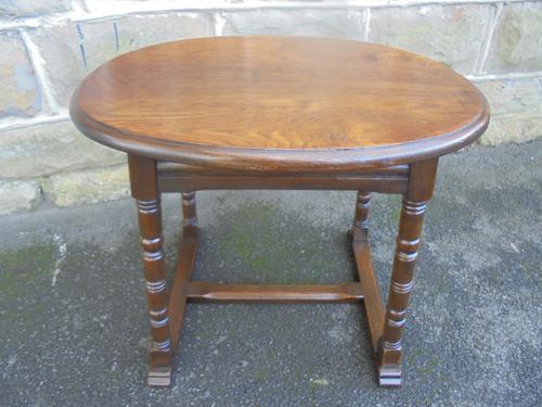 Antique Edwardian Oak Coffee Table (1 of 1)