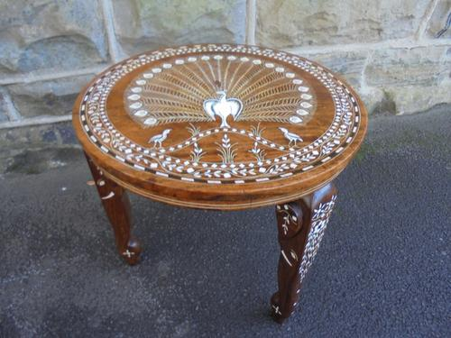 Antique Anglo Indian Inlaid Coffee Table c.1920 (1 of 1)