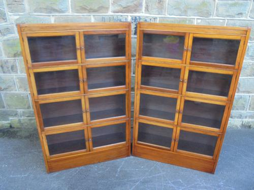 Pair of Antique Mahogany Sectional Library Bookcases by Minty (1 of 1)