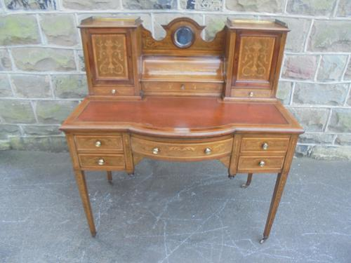 Antique Inlaid Mahogany Writing Desk (1 of 1)