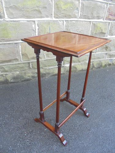 Antique Mahogany Wine or Lamp Table (1 of 1)