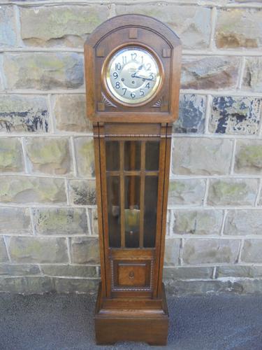 Antique Oak Grandmother Clock Holgate Accrington (1 of 1)